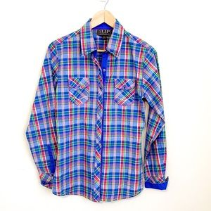 Cowgirl Up Plaid Long Sleeve Button Up Western Top